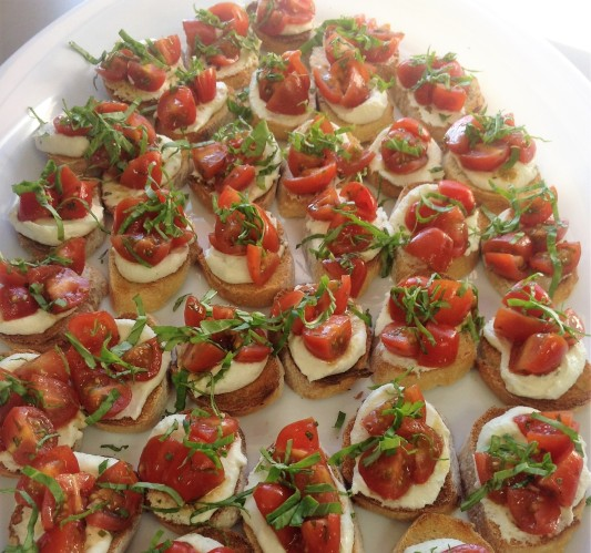 Marinated Tomato Crostini