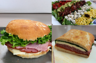 Glazed Ham Sandwich, Pressed Italian Sandwich, BLT Chopped Salad