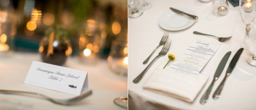 Menus were printed by the Magnolia Ballroom, flowers were placed in each napkin.