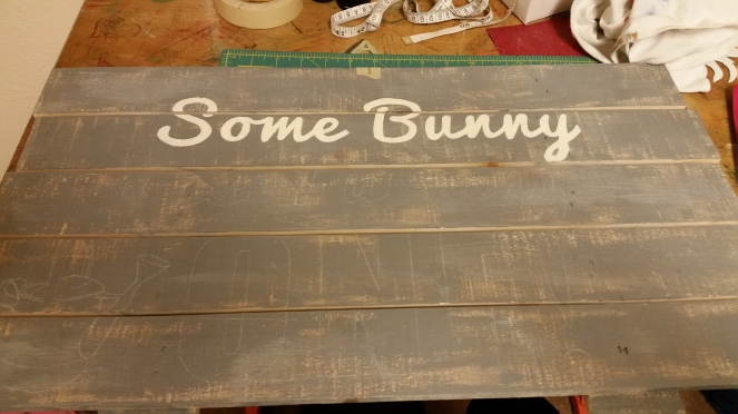 Pallet sign, Birthday, Custom crafts, Peter Rabbit