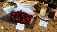 Fresh Berries and Scones, with Lemon Curd and Cranberry Jam