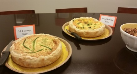 Asparagus and Crab Quiche, Broccoli and Cheddar Quiche, Light, Brunch