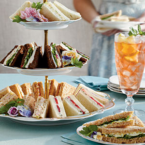 Tea sandwiches, bridal shower, princesses and queens.