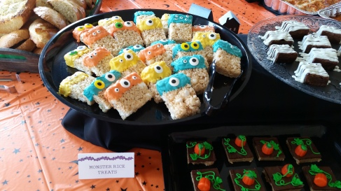 Spooky Rice Crispy treats