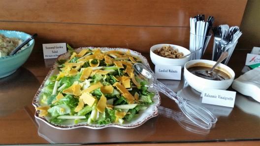 Seasonal Garden Salad with sharp cheddar and granny smith apples.